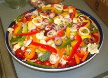 Photo of a mixed vegetable salad