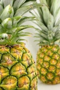 Photo of two pineapples