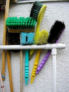 Photo of cleaning brushes