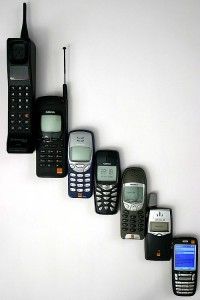 A group of mobile phones