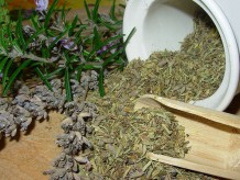 Close up photo of dried herbs