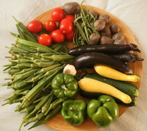 Photo of a plate of fresh vegetables