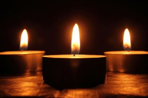 Photo of three candles