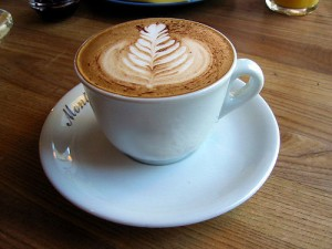 Photo of a cup of cappucino