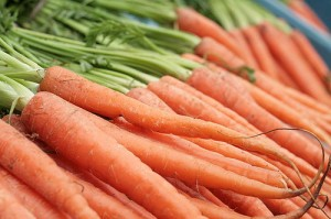 Photo of fresh carrots