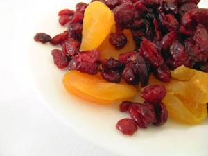 Photo of cranberries and apricots