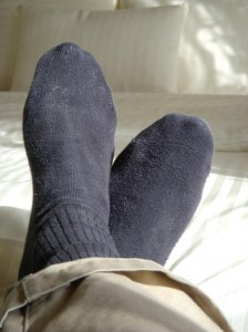 Photo of feet in socks