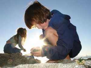 Photo of children playing in the sun