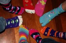 Photo of feet in toe socks