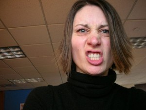 Photo of an angry woman