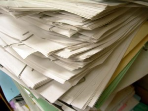Photo of a paper stack