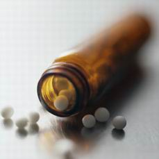 Photo of a bottleof homeopathic pills