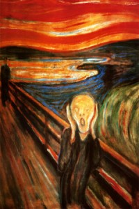 "Photo of the painting ""The Scream"""