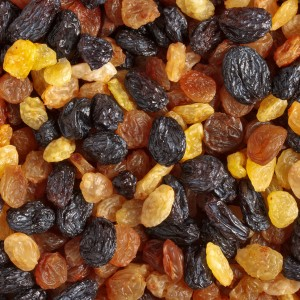 Photo of mixed raisins