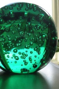 Photo of a green crystal ball