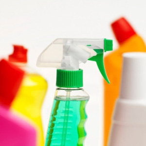 Photo of bottles of cleaning products
