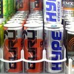 Photo of energy drinks