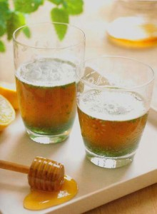 Photo of glasses of lemon and honey puree