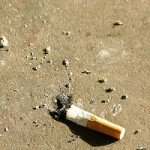 Photo of stubbed otu cigarette