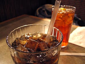 Photo of two glasses of cola