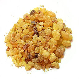 Photo of a pile of olibanum resin