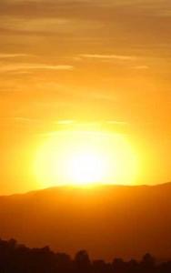 Photo of a sunrise