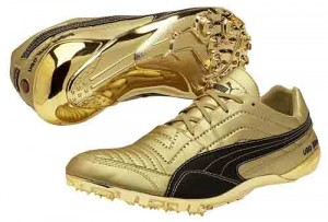 Photo of Usain Bolt gold spikes