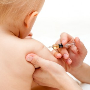 Photo of a baby receiving a vaccination