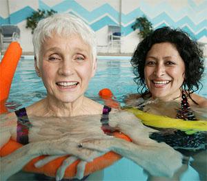 Photo of swimming senior citizens