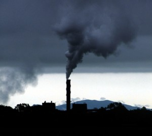 Photo of industrial air pollution