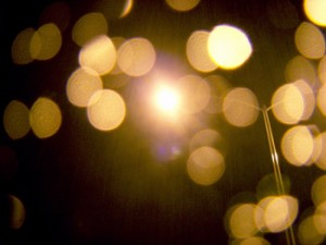 Photo of street lights at night