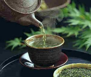 Photo of a cup of green tea