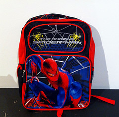 Photo of a spiderman backpack