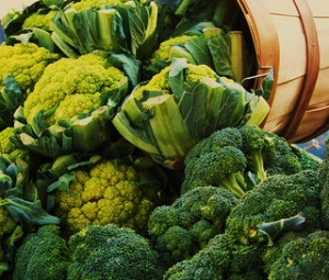Photo of broccoli and other cruciferous vegetables