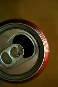 Photo of the top of a soda can