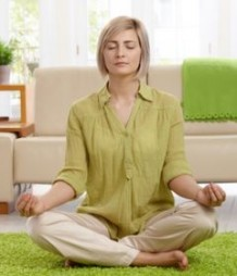 Photo of a woman meditating