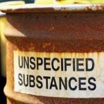 Photo of a barrel of toxic substances