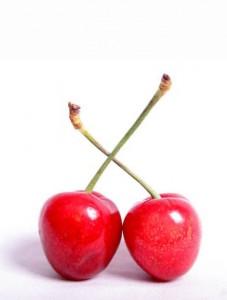 Photo of two cherries