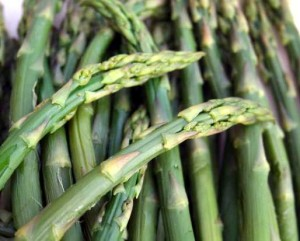 Close up photo of asparagus