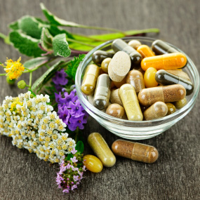 Photo of herbal tablets for menopause