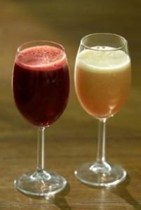 Photo of freshly prepared fruit juices