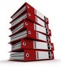 Photo of a pile of red ring binders