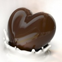 Photo of a chocolate heart