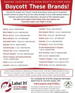 GMO boycott poster