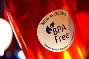 Close up photo of a BPA-free bottle