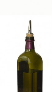 Photo of an olive oil bottle