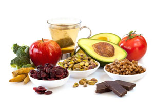 Photo of a collection of antioxidant-rich foods