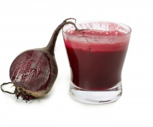 Photo of a glass of beetroot juice