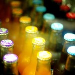 Close up photo of soda botles