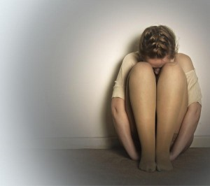 Photoof a depressed woman